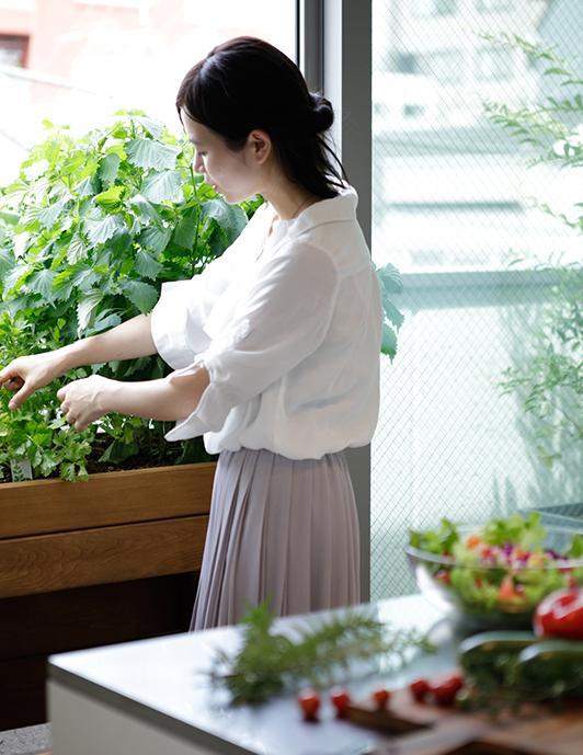 バルコニーにある植栽もそのままついてきます。家庭菜園ができるプランターもそのまま引き継げます