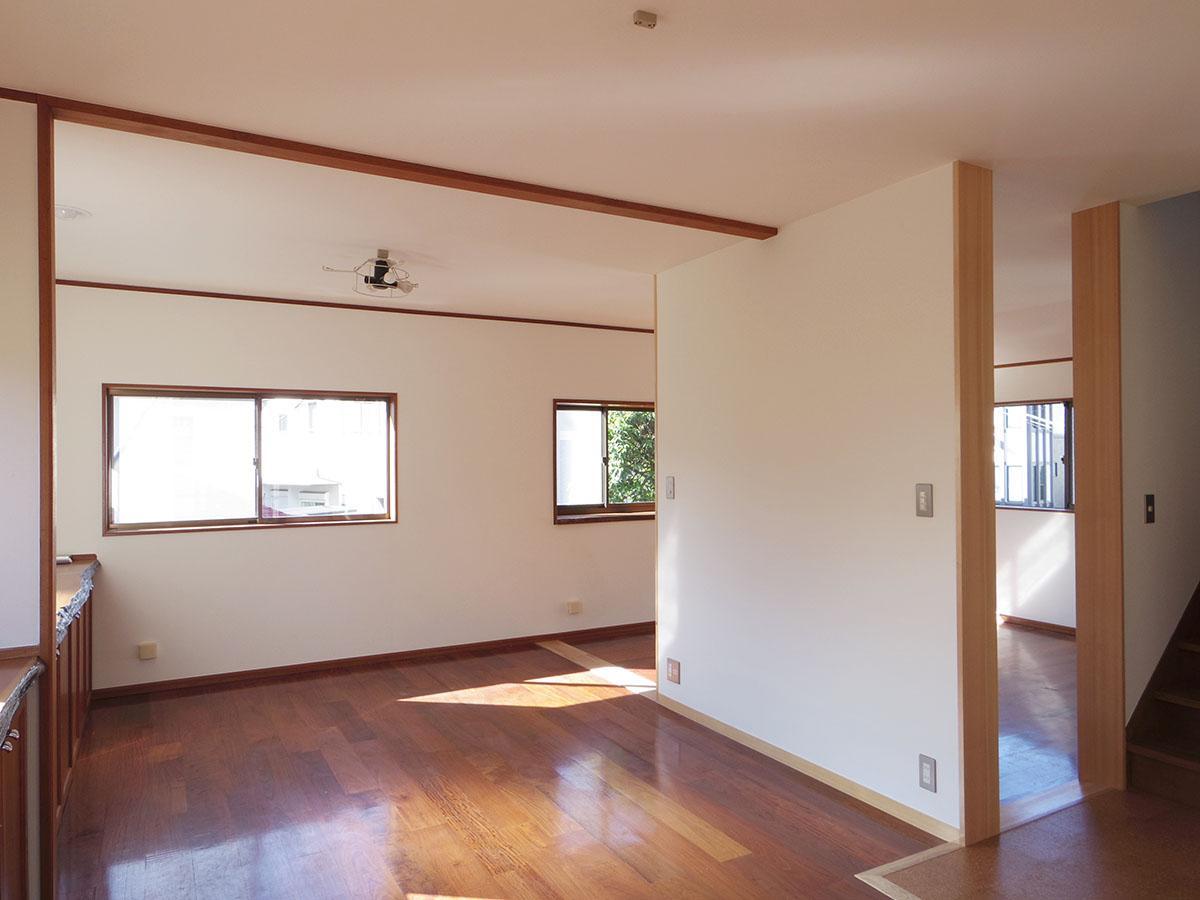 あえて部屋はしっかりと区切らず、開放感を確保