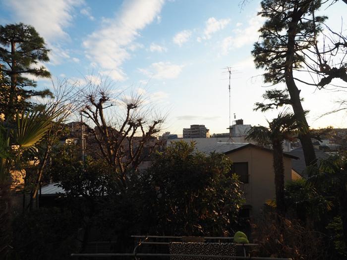 高台なので日当たりや眺めもよい。春には桜が、夏には緑が茂る