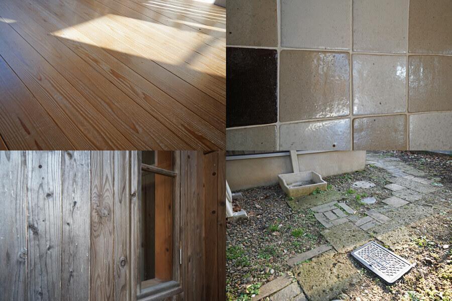 床、タイル、外壁、庭の飛び石、どれを取っても映えます