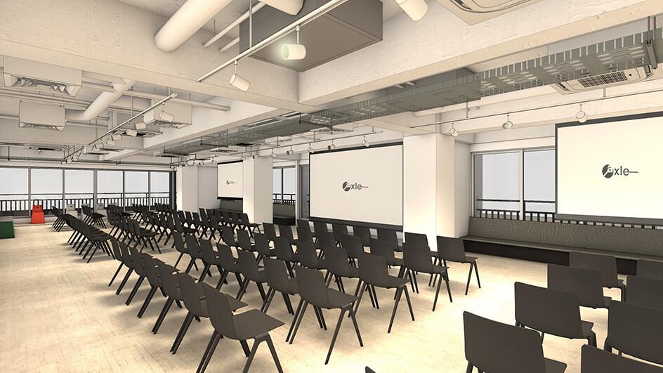 最大120人収容可能なイベントスペース(参考パース)