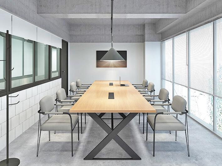 8人部屋の会議室。施設内には全部で14部屋の会議室が用意されている(参考パース)