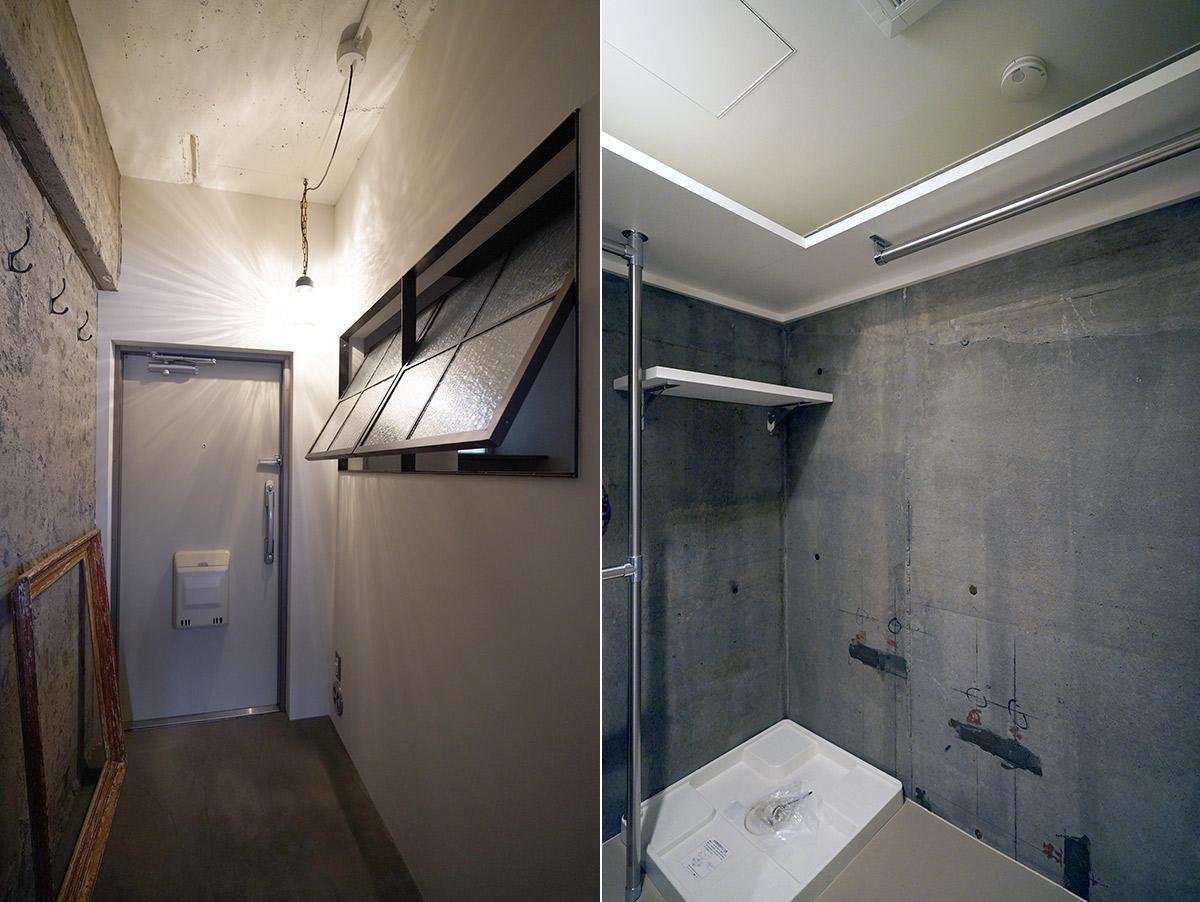 広めの玄関土間/クローゼット内には洗濯機置場と浴室乾燥機があります