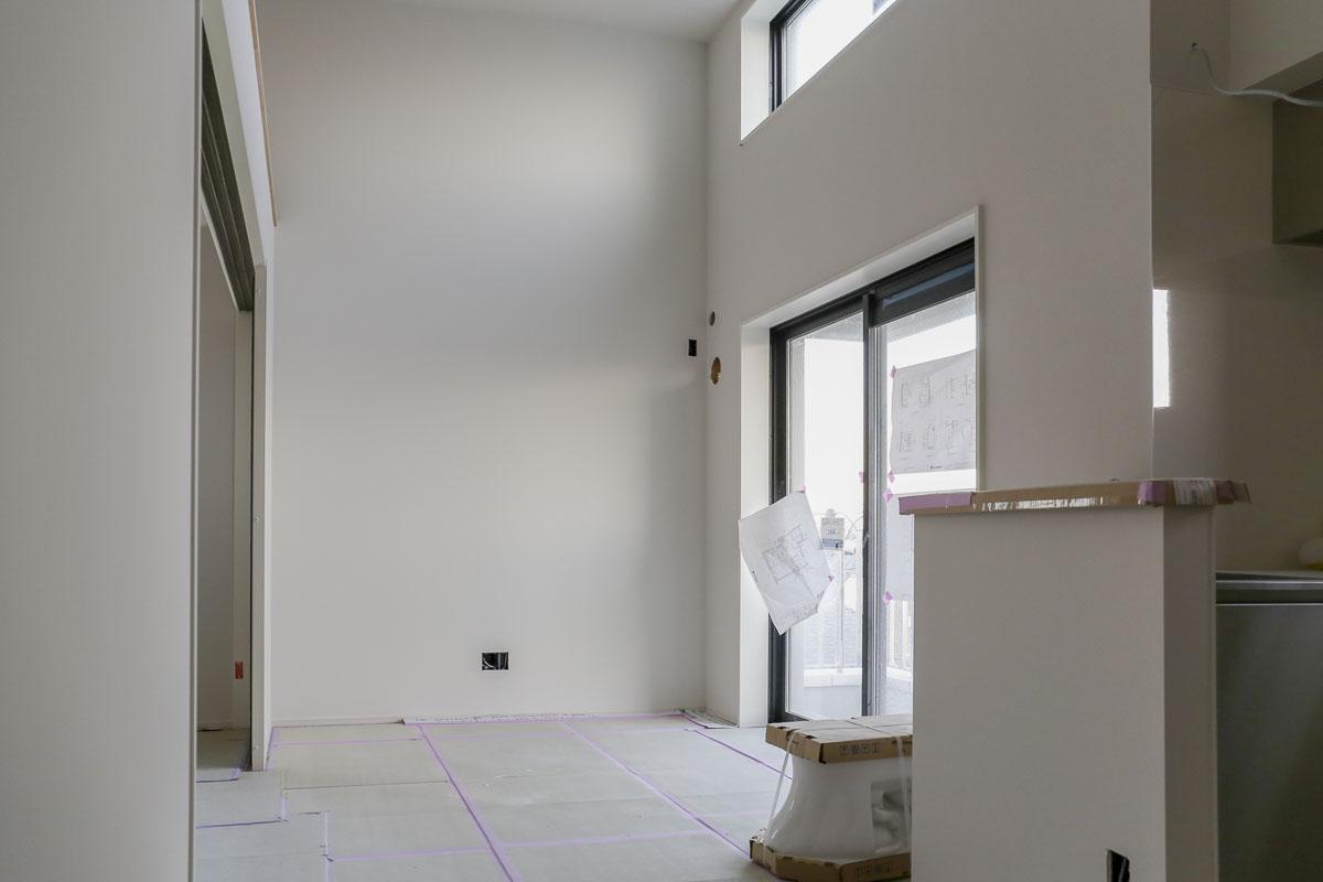 Fタイプは1部屋だけ。天井高が3.6mと、最上階ならではの特別仕様