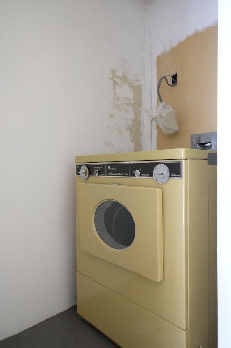 洗濯機は撤去される予定です