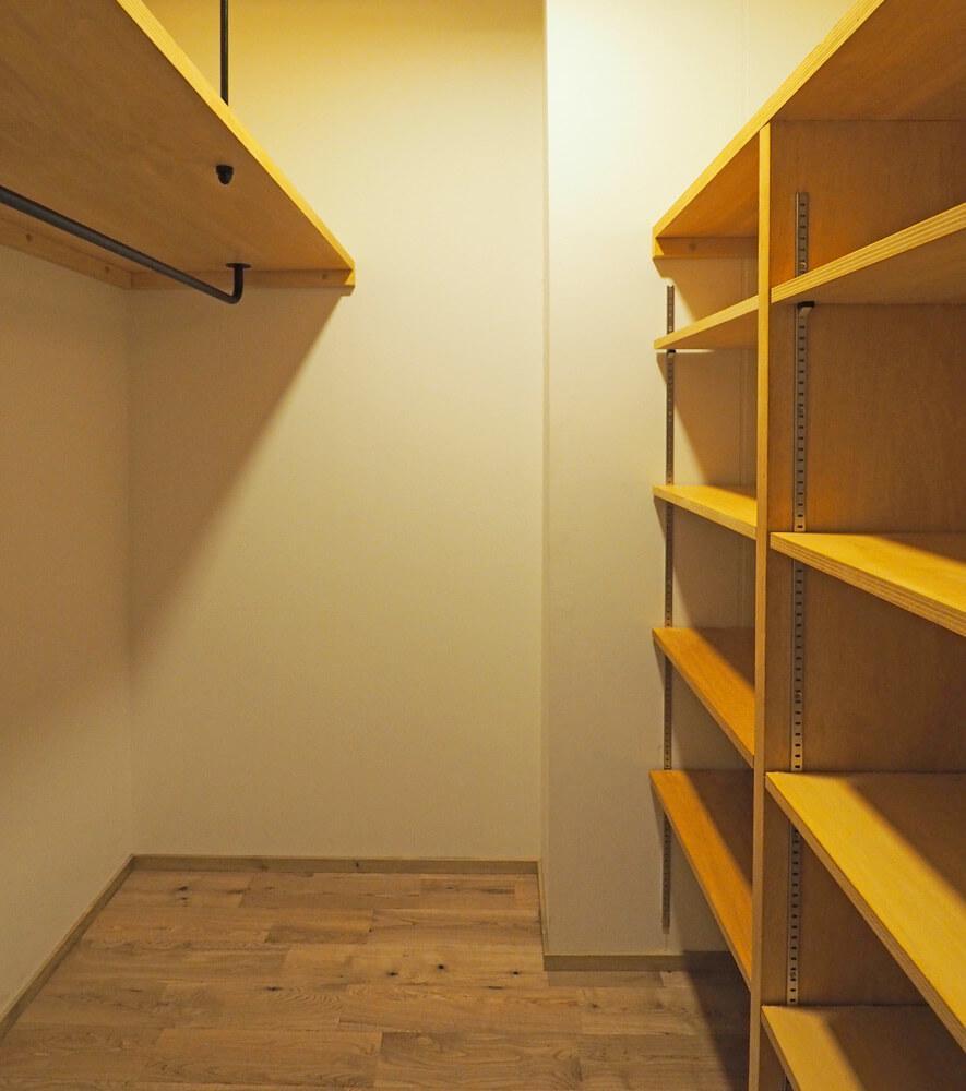 Bタイプには収納スペースがあります