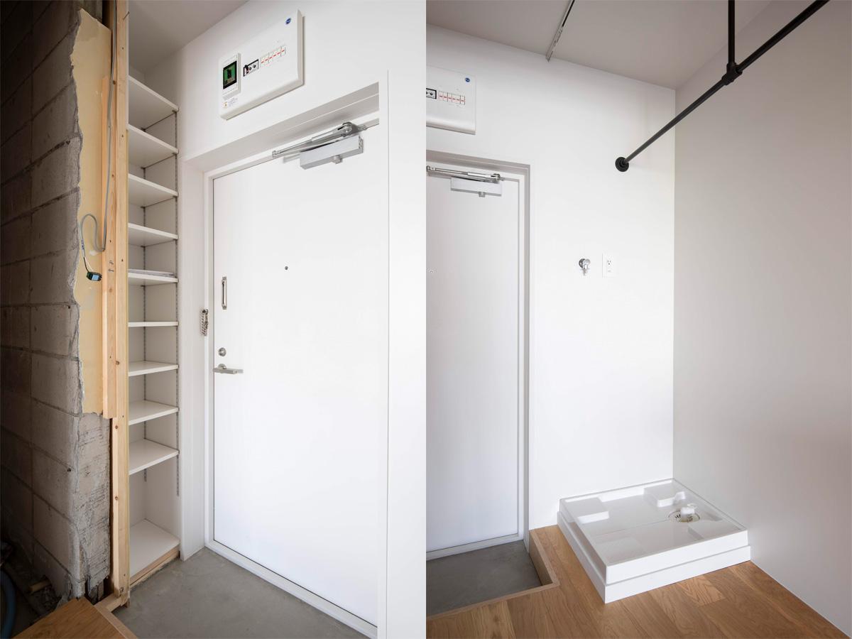 上部にカーテンレールが設置済みなので隠すことも可能(10階)