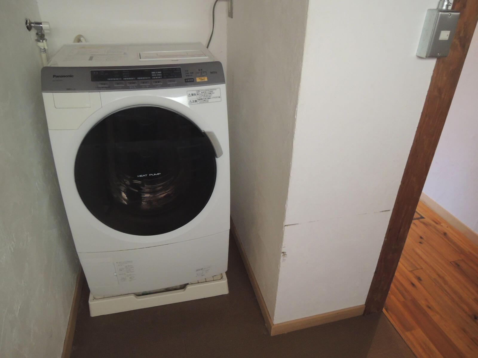 洗濯乾燥機もできればこのままで。
