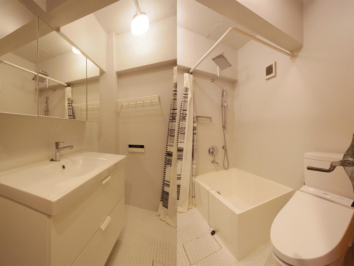 サニタリーは、トイレ・洗面台・風呂が同室