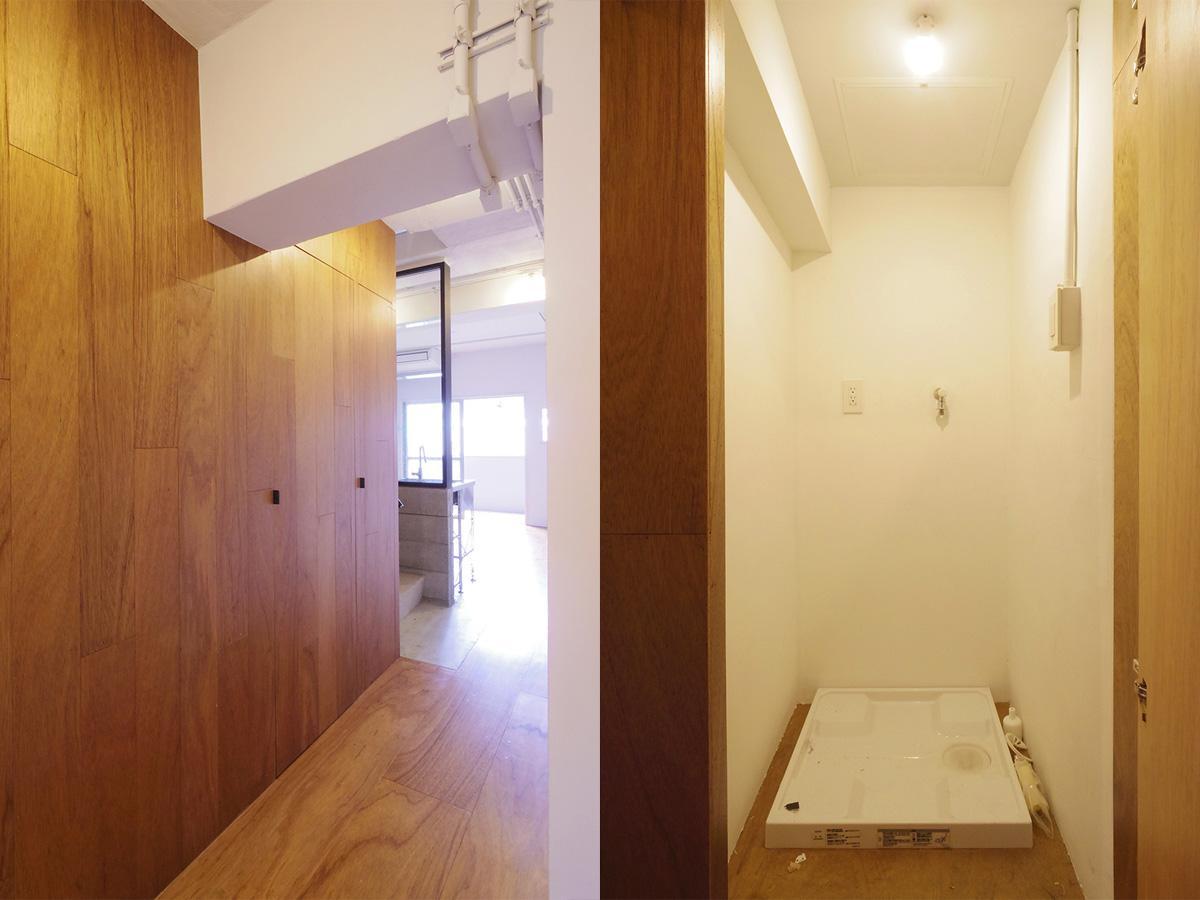 4階廊下部分に洗濯機置き場