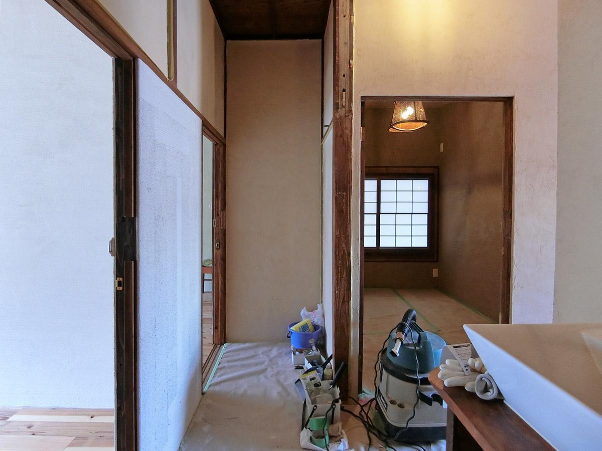 2階シェアハウス:各部屋の位置関係はこんな感じ(工事中の写真)
