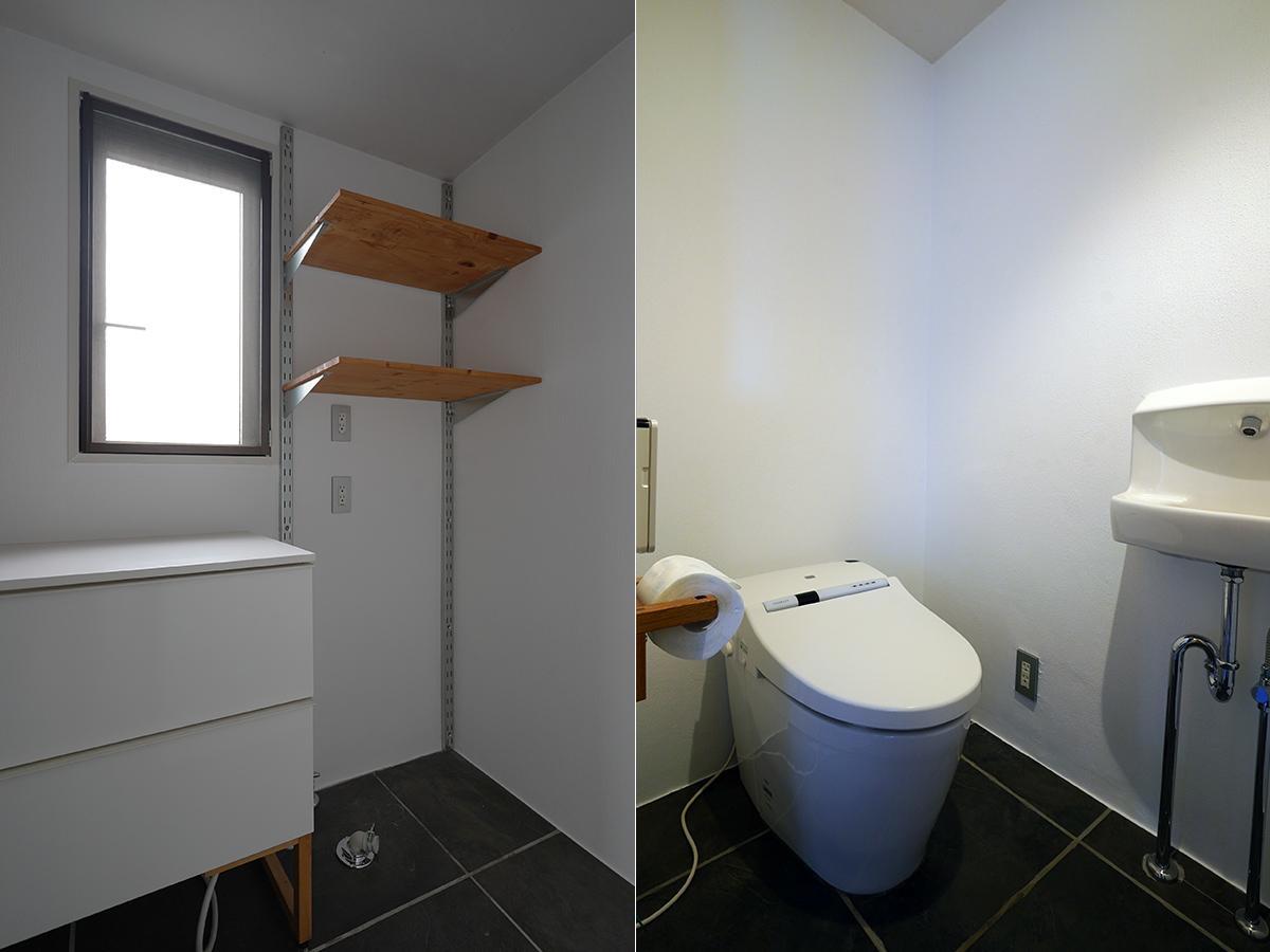 洗濯機置場とトイレ