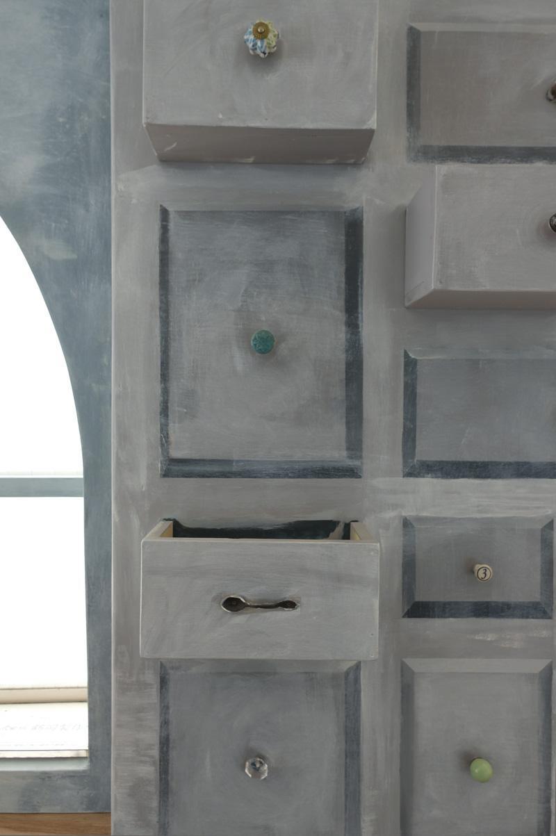 2階コワーキングスペース:ポップな配色なので、塗り直しなど改装しても良い