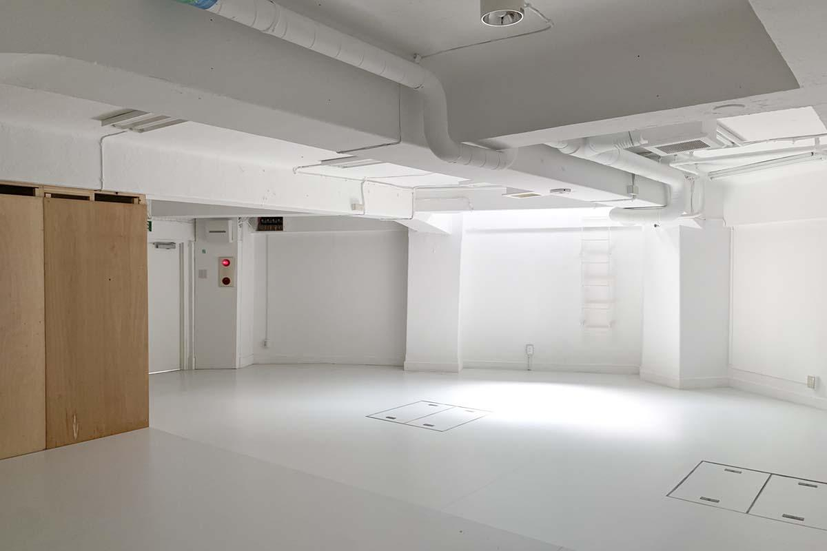 地下1階:ここから左側の合板の立ち上げ壁は白く塗装する予定