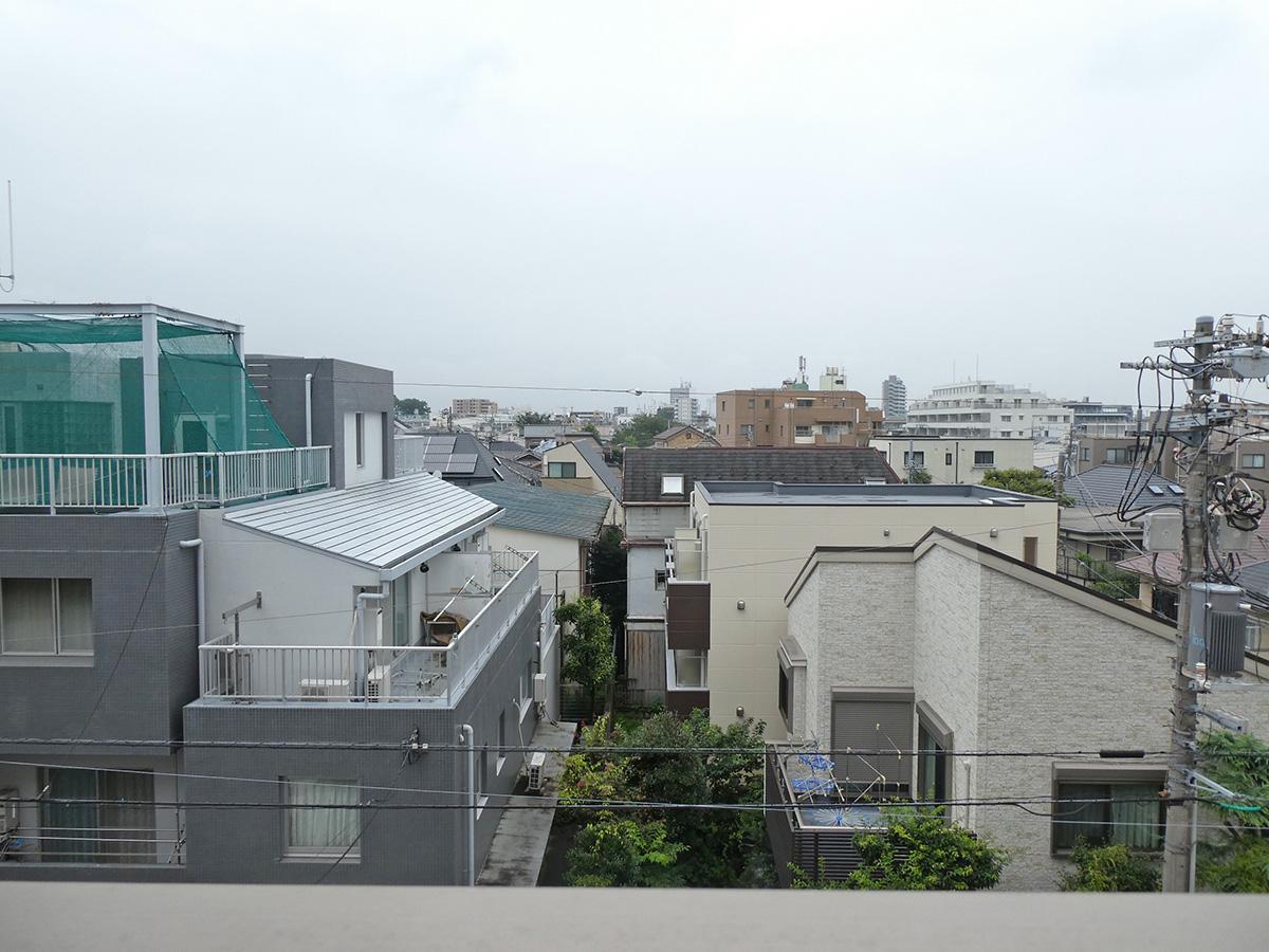 北側の洋室からの眺望