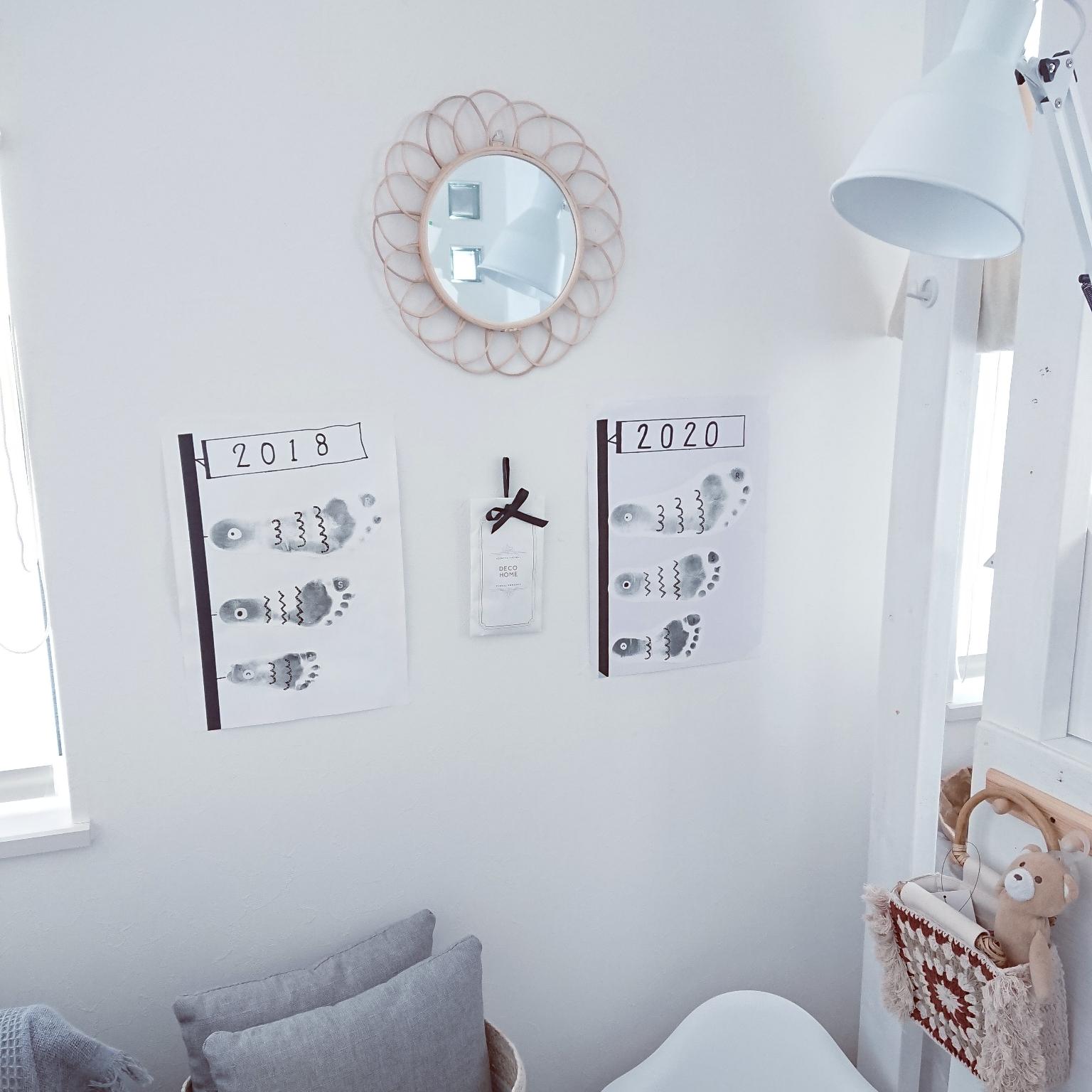 壁/天井/ディスプレイコーナー/足形アート/鯉のぼり/こいのぼりのインテリア実例 - 2020-04-07 13:05:51