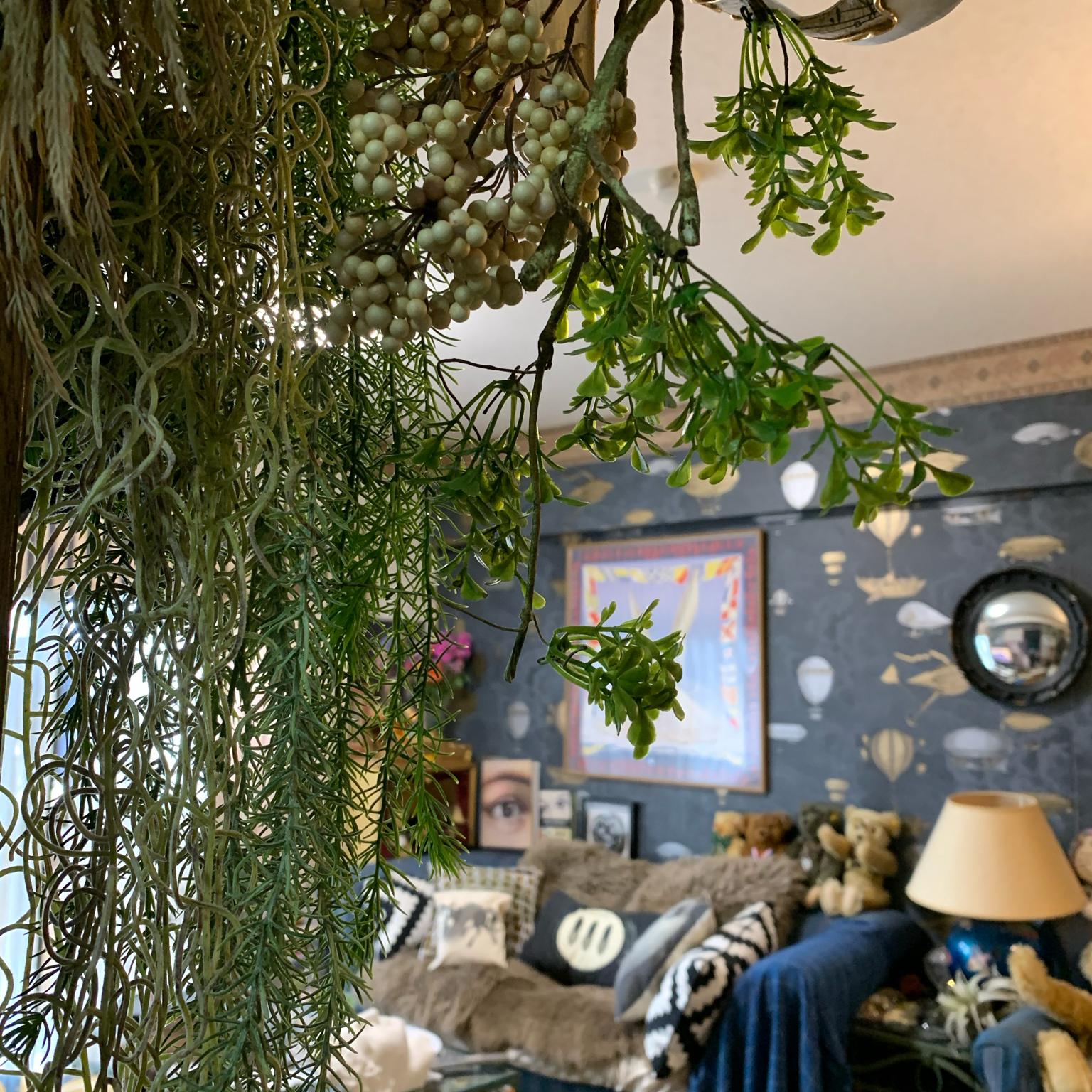 観葉植物 いなざうるす屋さん アート 巴里のアパルトマン テシード壁紙