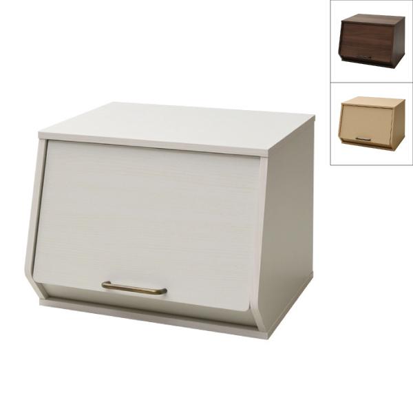 4個セット おうちすっきり 収納ボックス フタ付き 木製 前開き 4個組 オープンボックス 積み重ね スタッキング キューブボックス おもちゃ箱 西海岸インテリア 山善 YAMAZEN【送料無料】