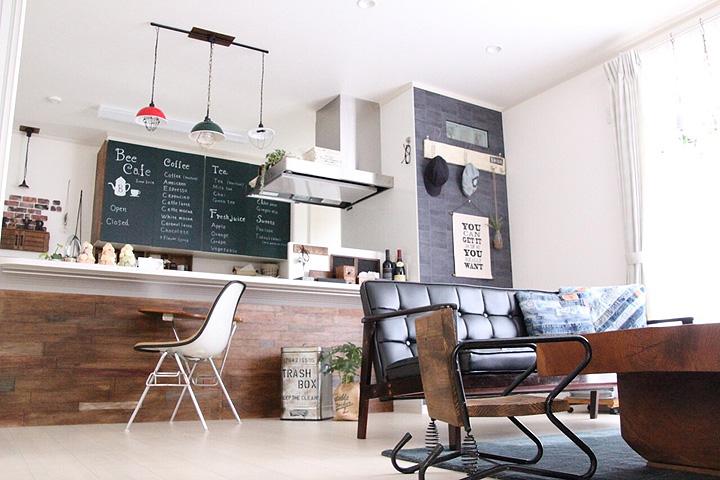 「やってみたい!から生まれた、NY気分なcafe空間」憧れのキッチン vol.29 yunari-coさん | RoomClip mag | 暮らしとインテリアのwebマガジン