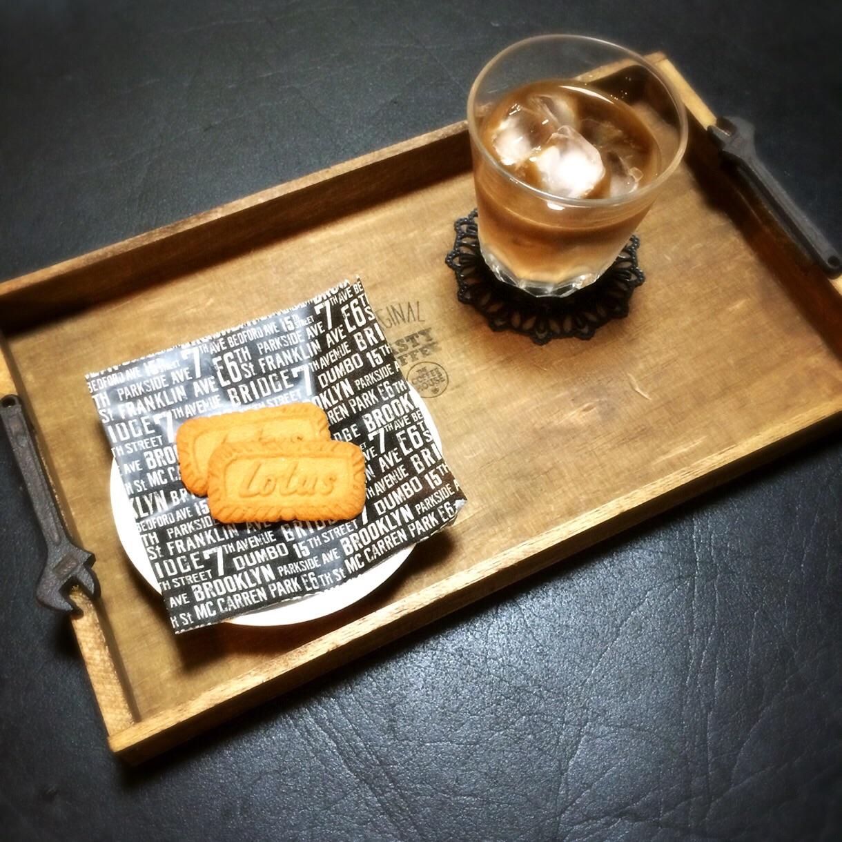 ビンテージな男前雑貨!素麺木箱でつくるDIYカフェトレイ by isasmineさん