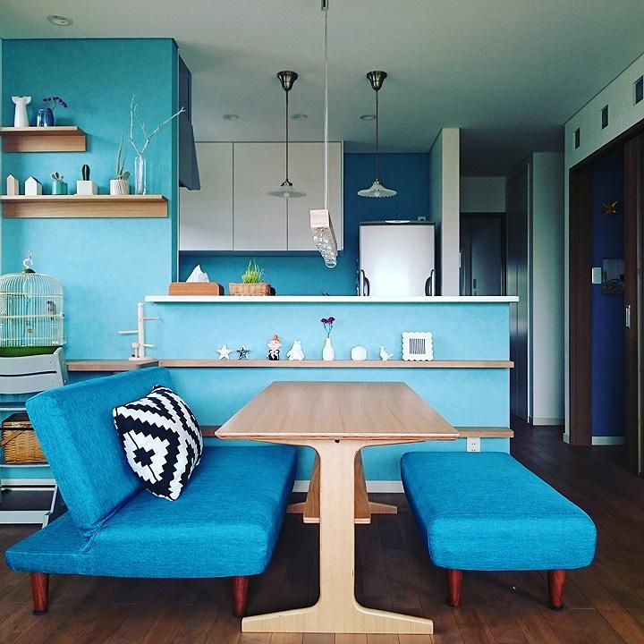 「爽やかなブルーがポイント♡模様替えを楽しむスッキリ空間」憧れのキッチン vol.41 cherryさん