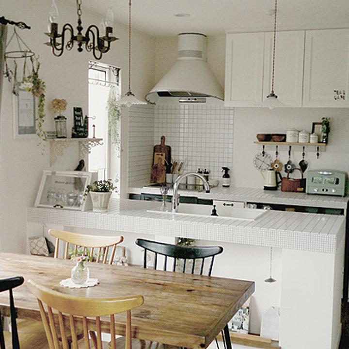 「フレンチシャビーな癒しのオープンcafe空間」憧れのキッチン vol.32 erinkoさん