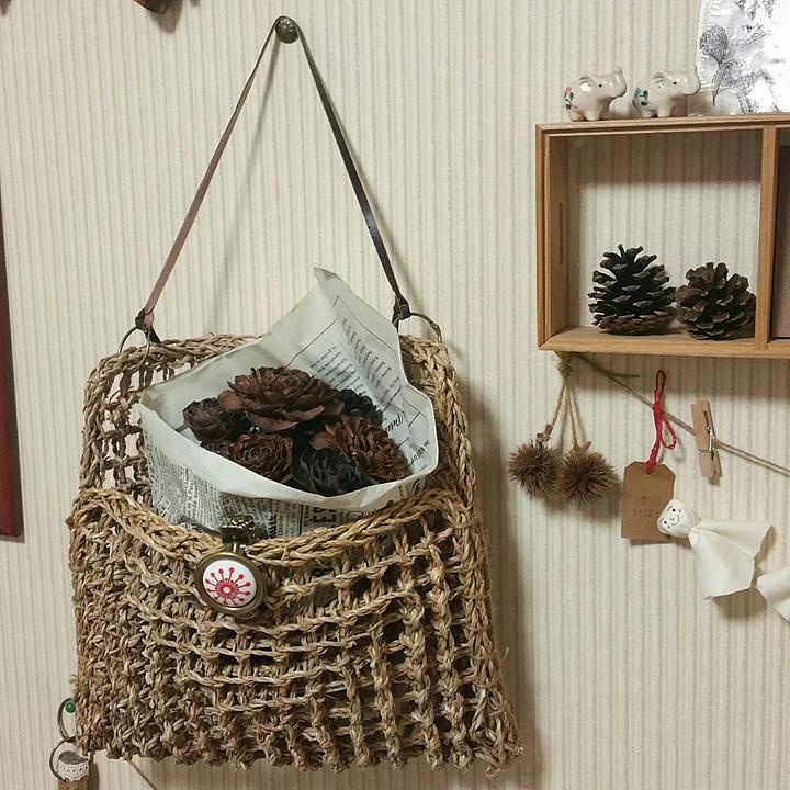 「シーグラスマットで編まずに作る!収納カゴバッグ」 by surimaさん