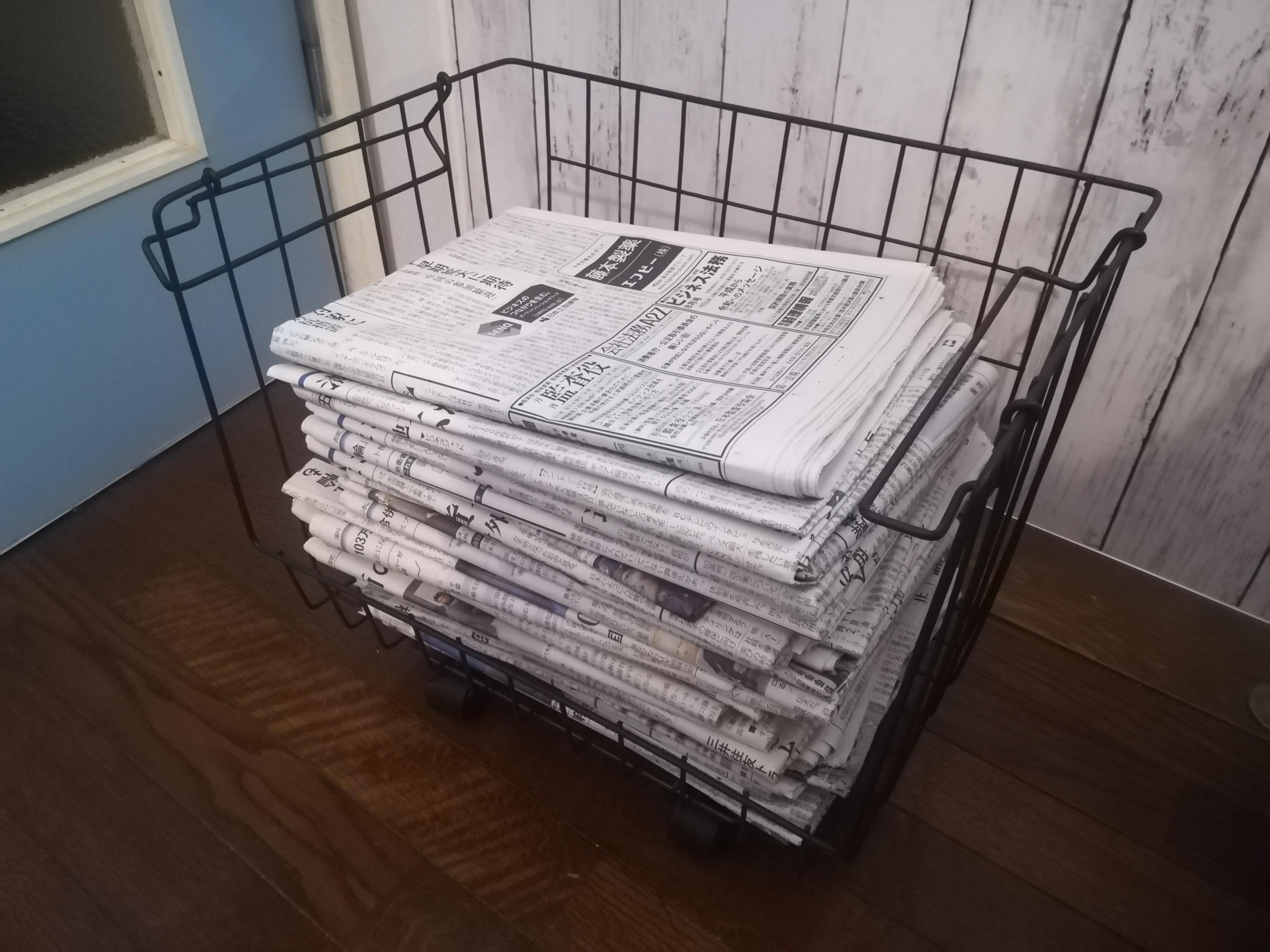 「アイアンでスマートに◎ラクラク移動式新聞紙ストッカー」 by marineさん