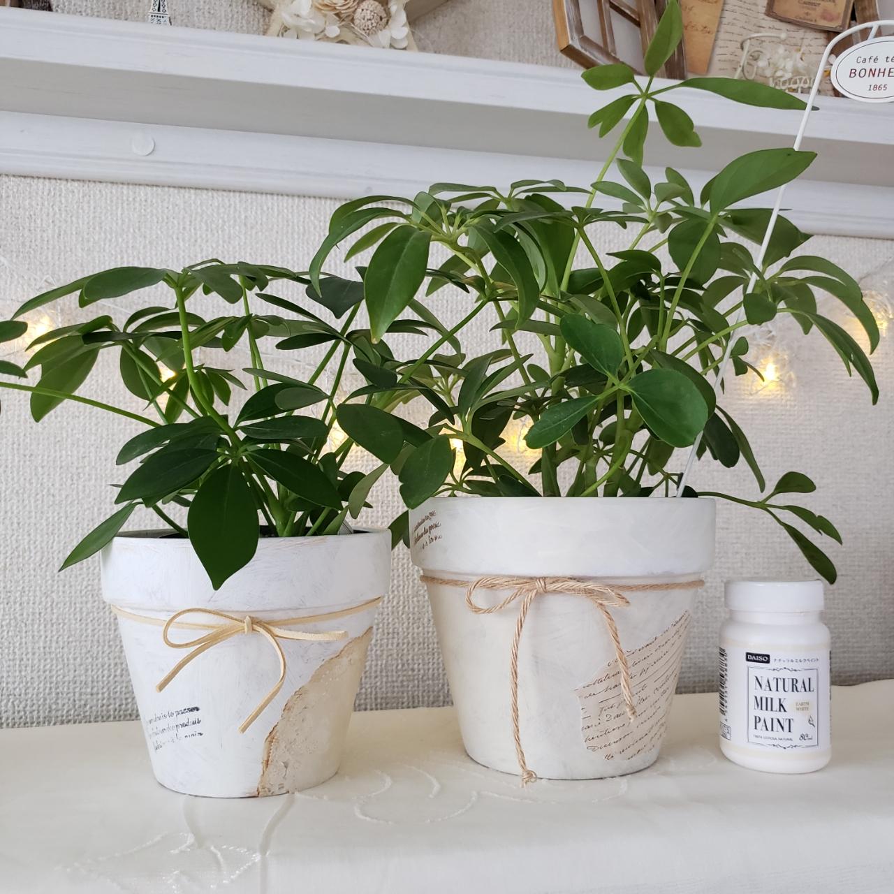 「植木鉢をもっと私らしく。塗って飾って簡単リメイク♪」 by pinonさん