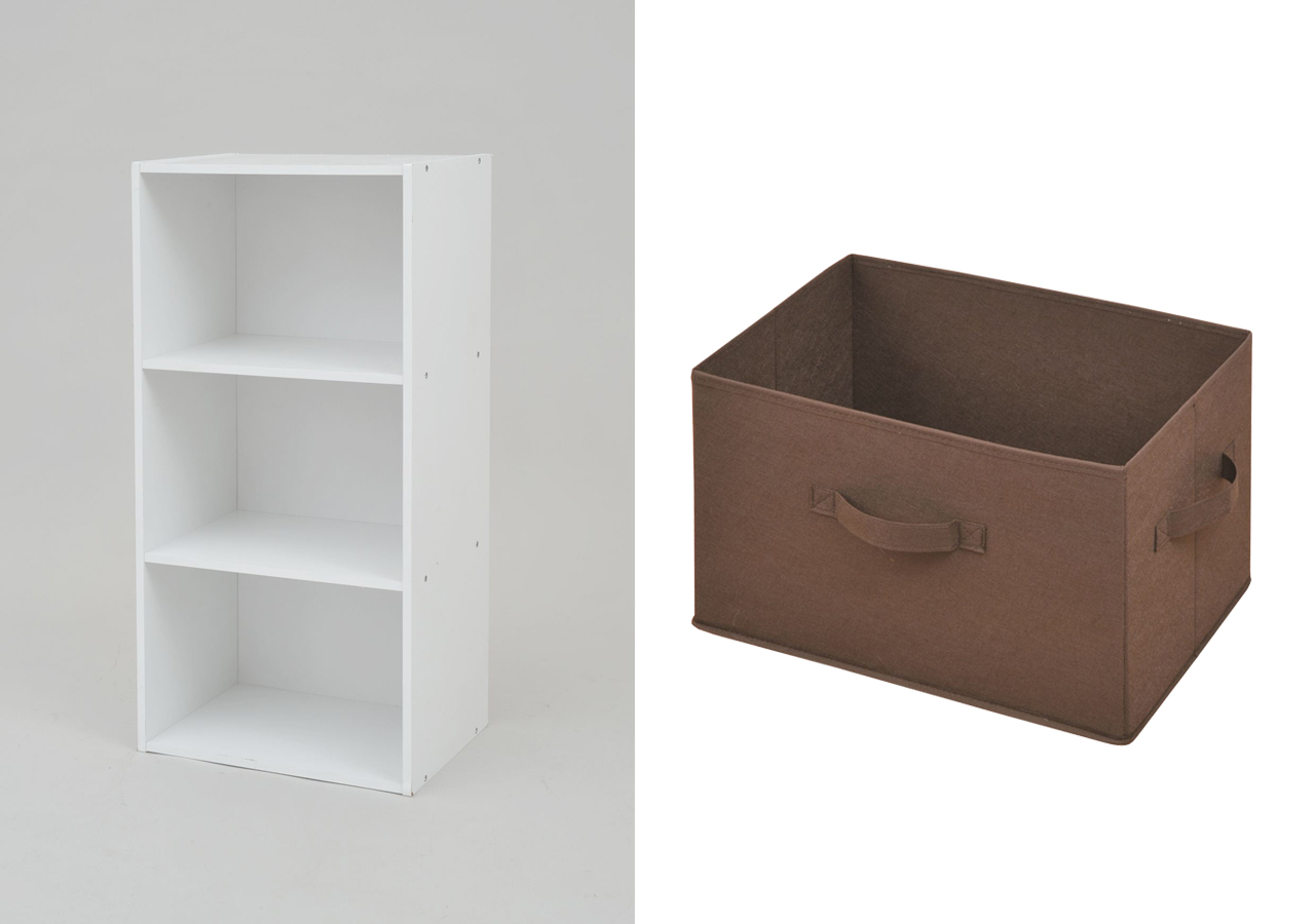 山善・カラーボックス、収納ボックス