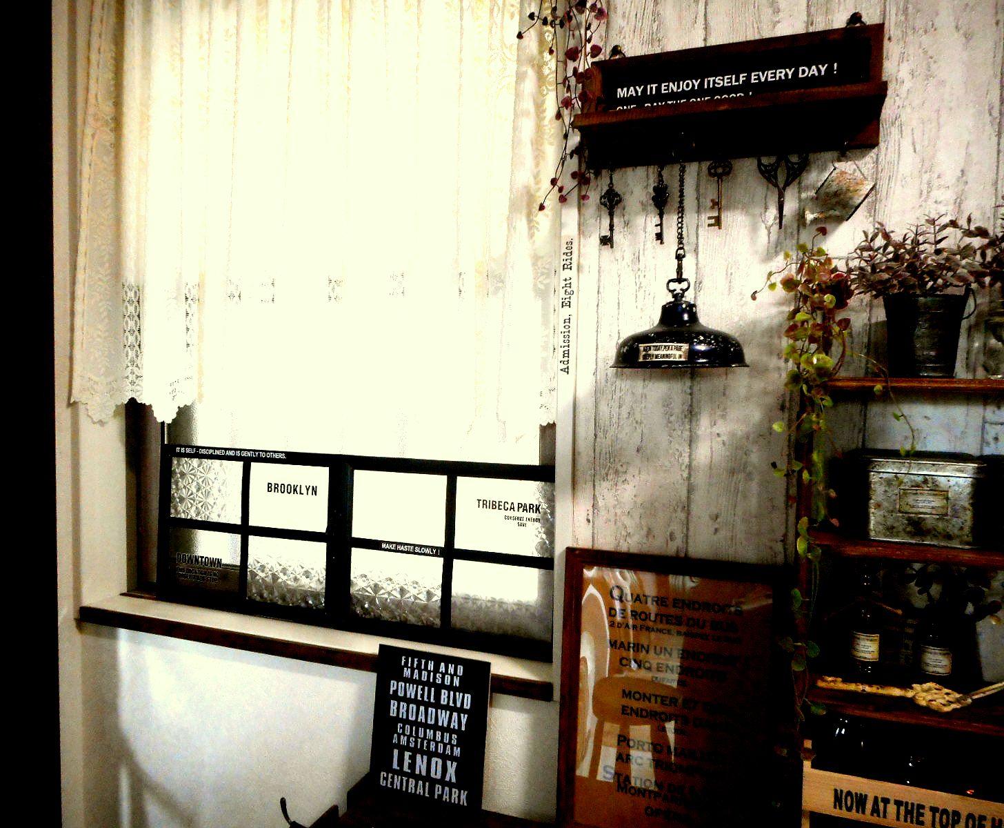 断熱効果のおまけつき♪セリアのフレームで窓枠リメイク by wa-ga-yaさん
