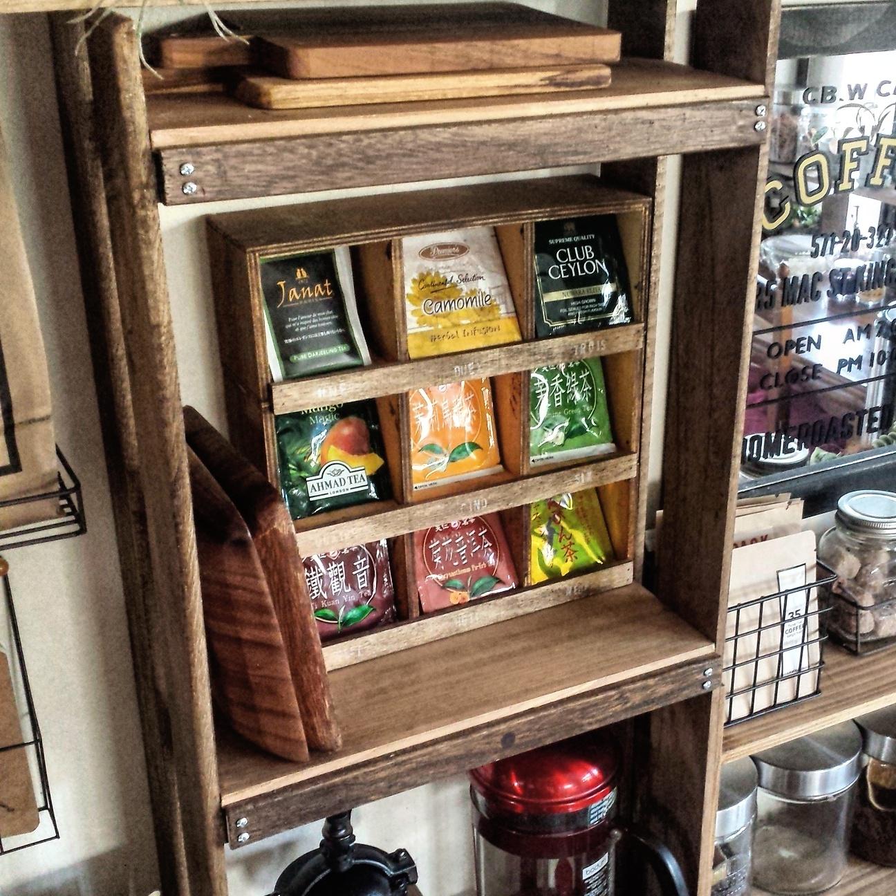紅茶好きさん必見!「今日はどれを飲もうかな……♡」chobiさんのティーバッグ収納棚