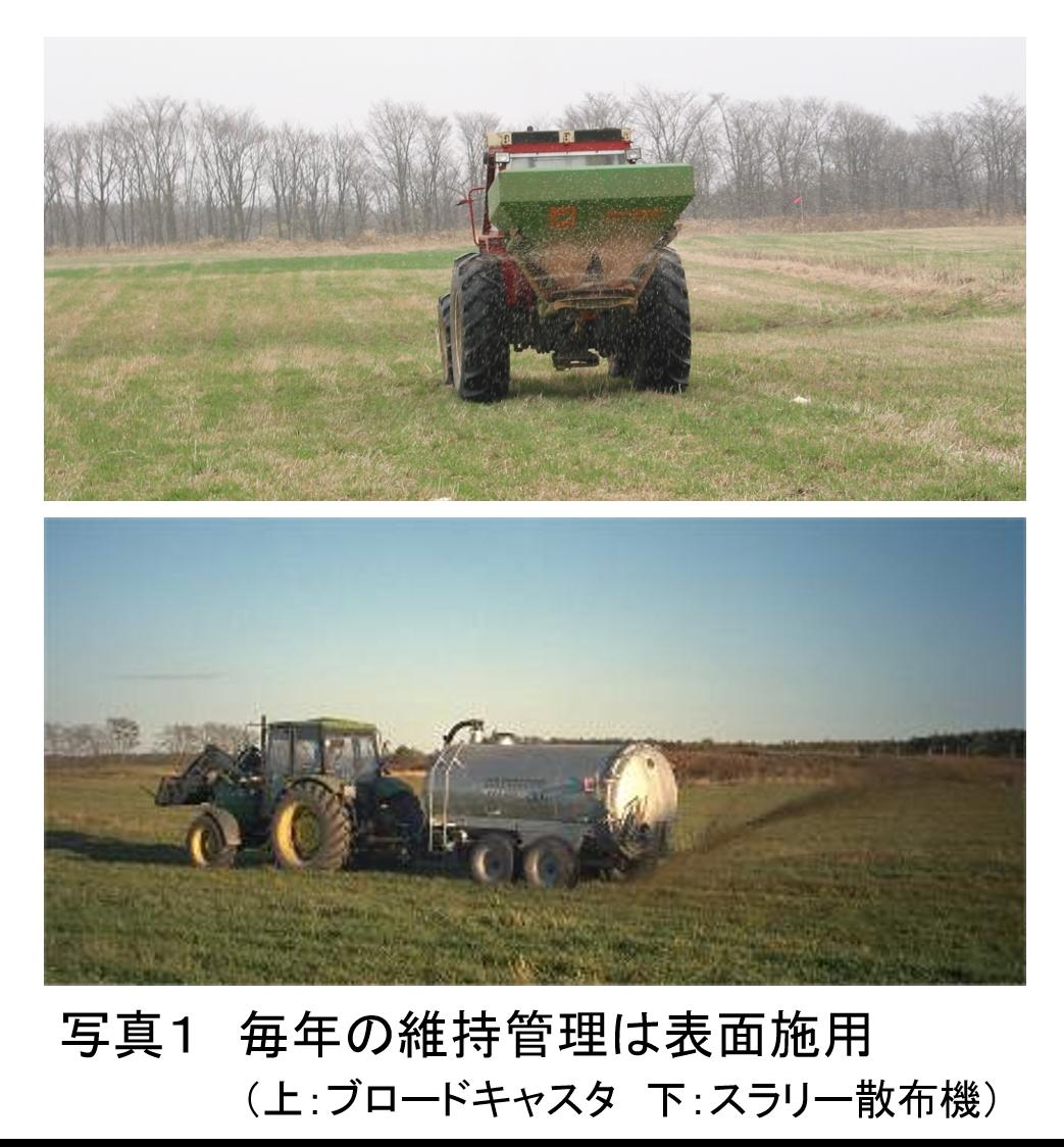 草地の土づくりー維持管理ー