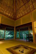 蓼科山荘(別荘):囲炉裏