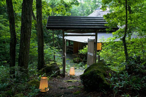 蓼科山荘(別荘)敷地の入口