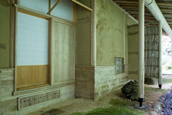 蓼科山荘(別荘)土壁と障子