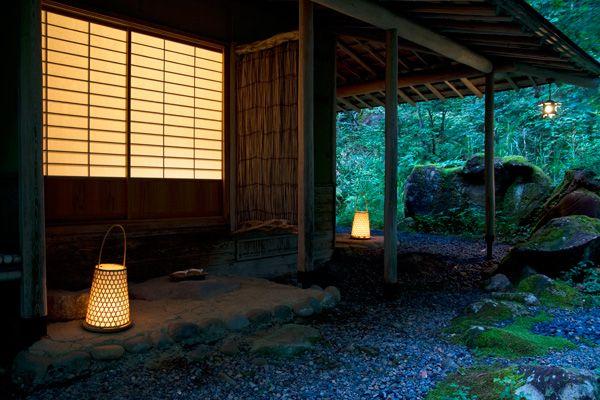 蓼科山荘(別荘)夕方の風景