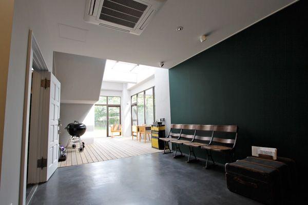 文苑邸(ぶんえんてい)緑の壁