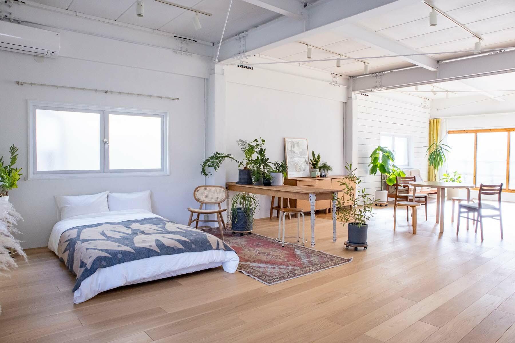 STUDIO RODAN(スタジオロダン) 2~3F2F 南側ベランダは大きく開く窓
