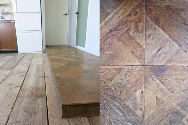 M RESIDENCE/個人宅 (エム レジデンス)寄木細工のフローリング使用