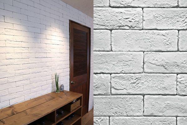 M RESIDENCE/個人宅 (エム レジデンス)無骨な風合いのブリックタイルの壁