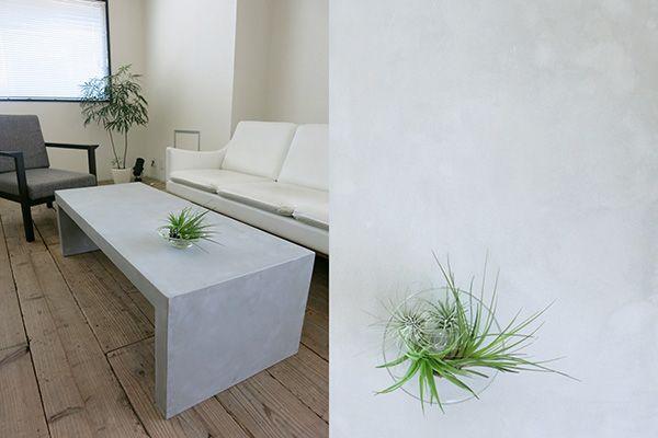 M RESIDENCE/個人宅 (エム レジデンス)商材が映えるモルタルローテーブル