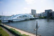 STUDIO FLOD(スタジオフロード)3、4F:スタジオ窓からの風景は隅田川