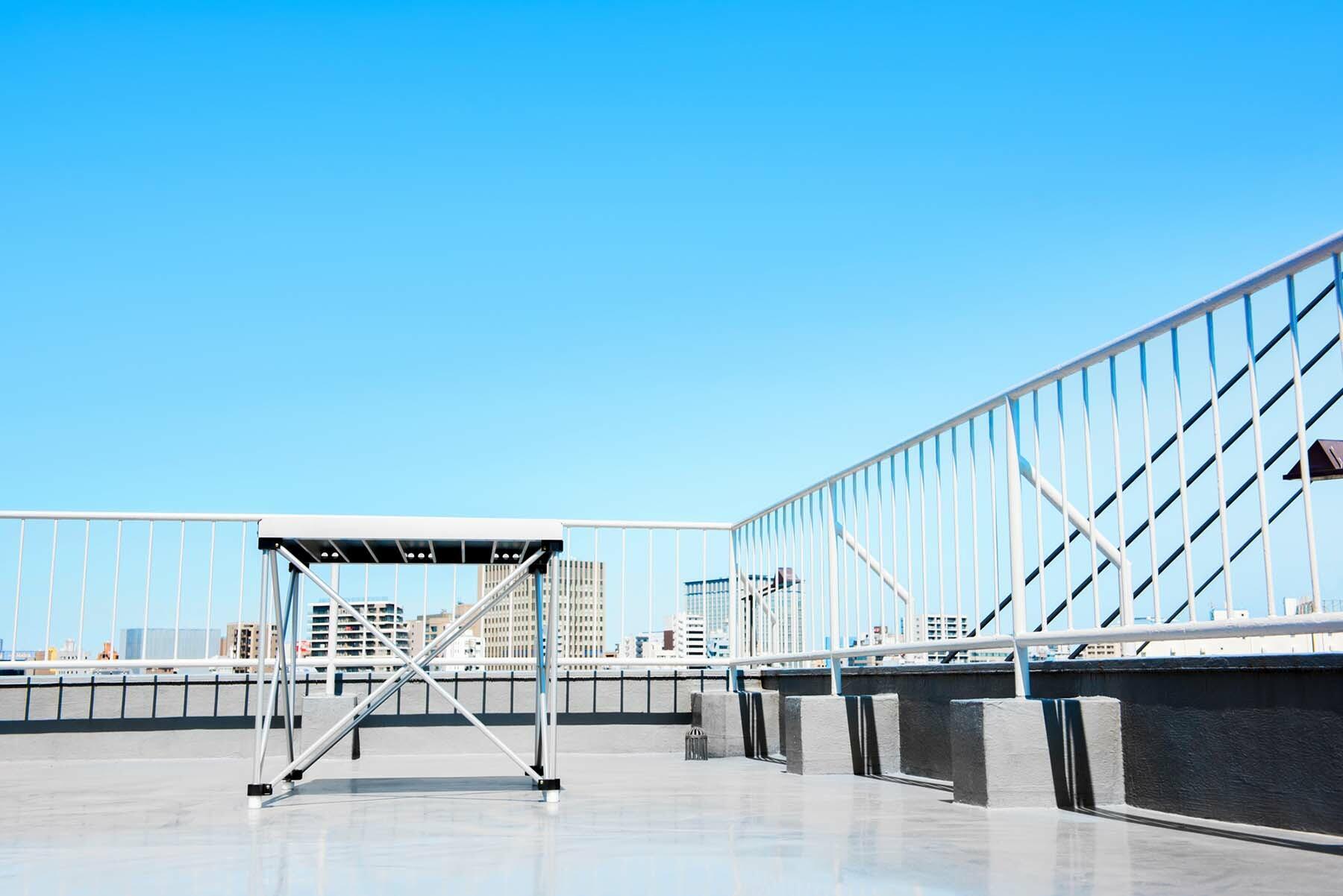 StudioBRICK 1F (スタジオブリック八丁堀1F)屋上はオプション利用可能