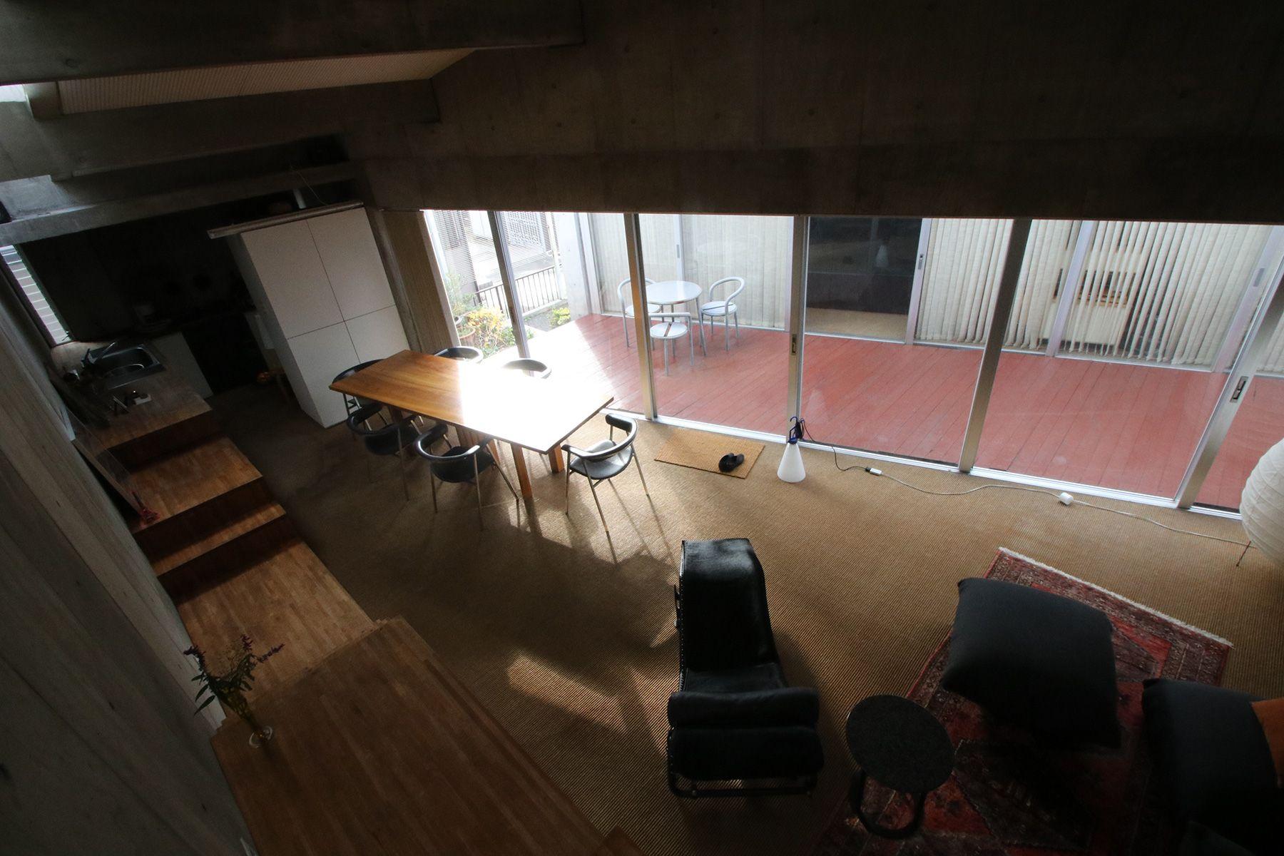 港北ニュータウンの家/個人宅俯瞰して撮影したリビング