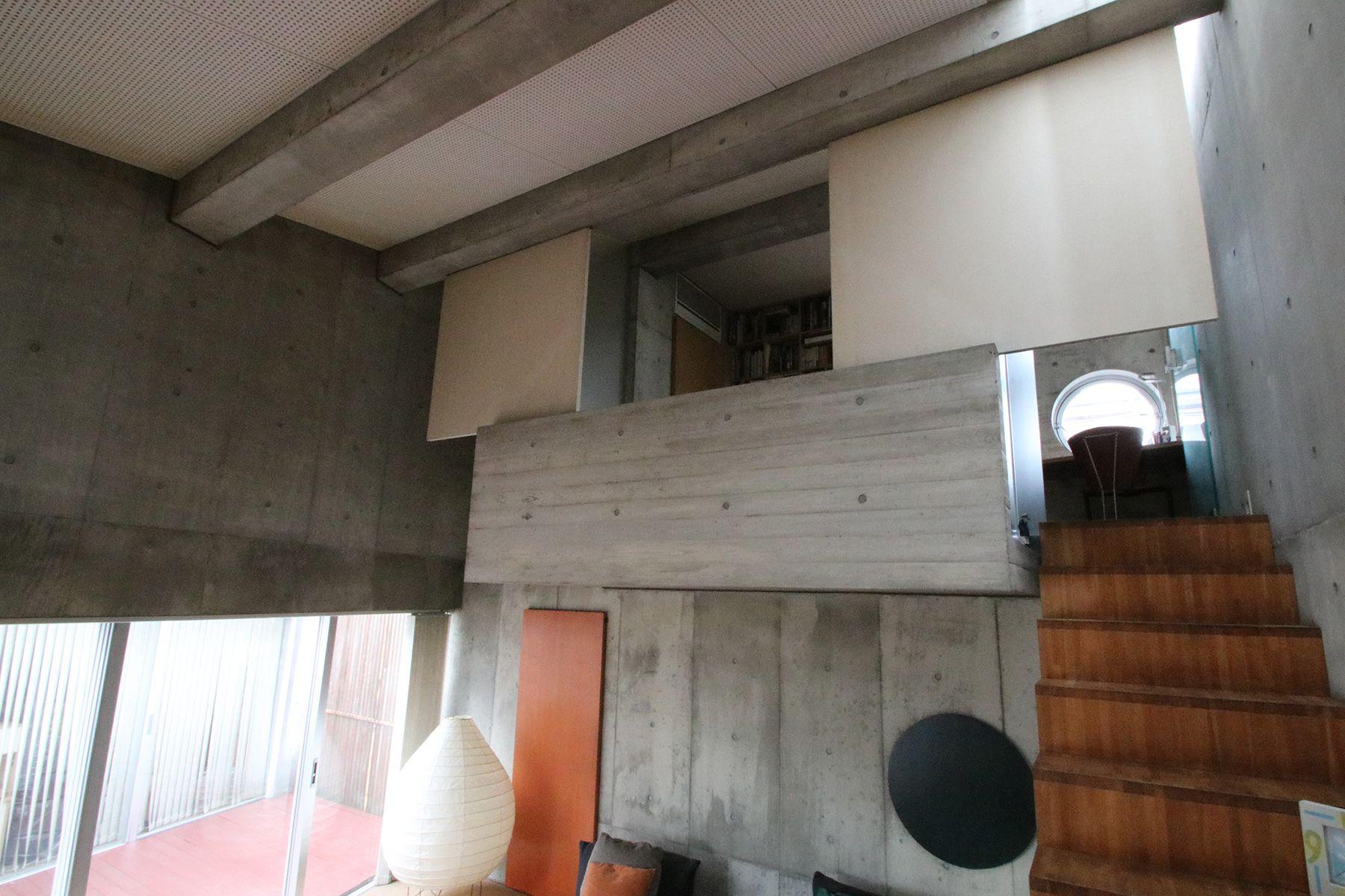 港北ニュータウンの家/個人宅ベッドルームへと続く階段