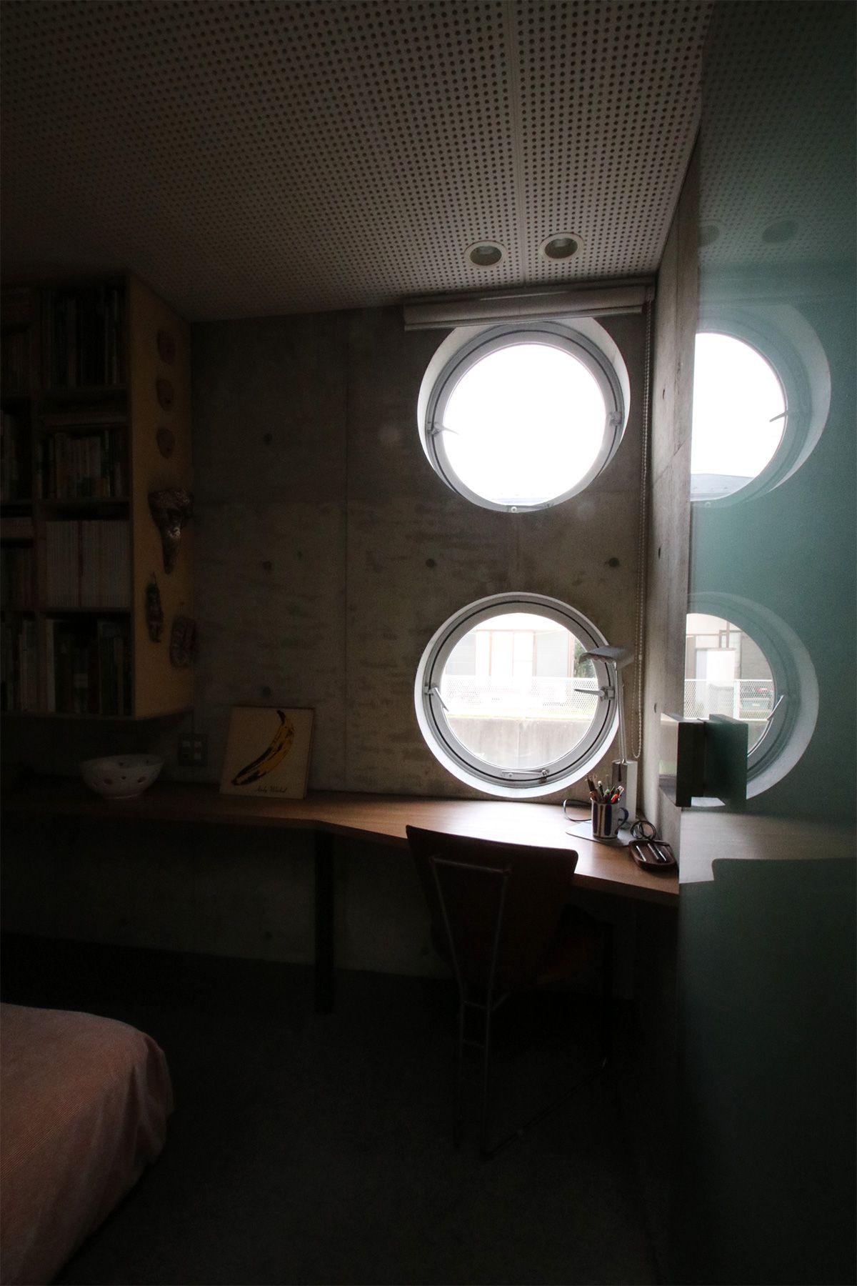 港北ニュータウンの家/個人宅寝室の窓