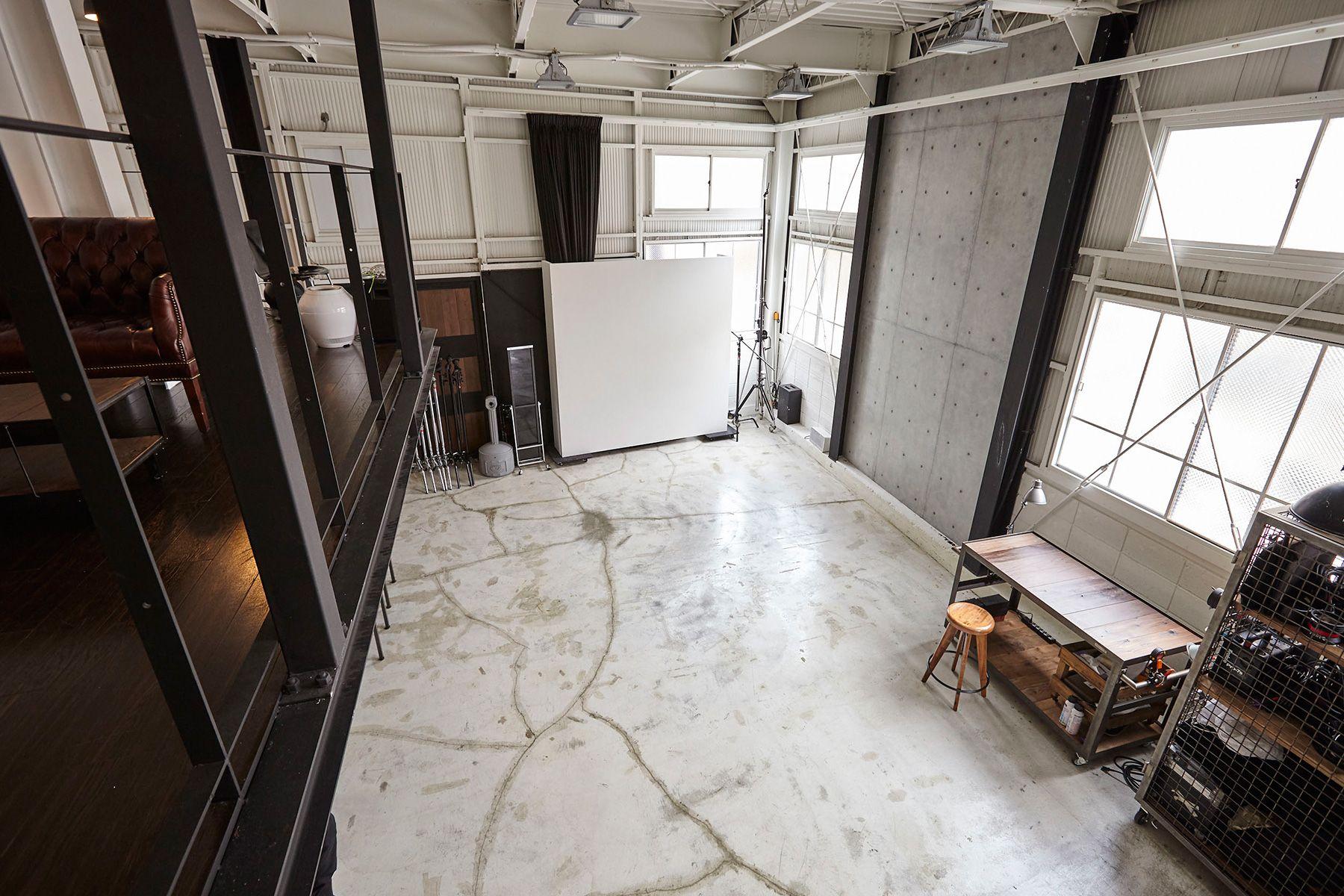 Studio I-AM (スタジオ アイアム)1F ロフトから俯瞰