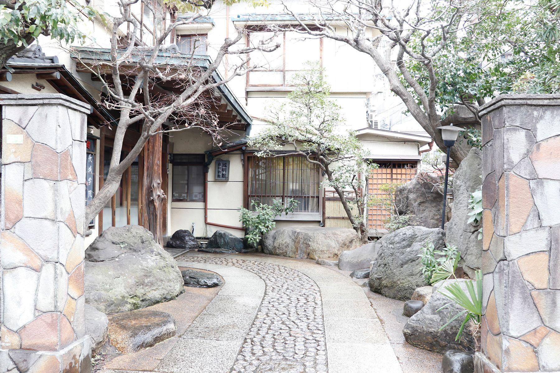 HOMEIKAN 森川別館/旅館 (ホウメイカン)玄関までのアプローチ