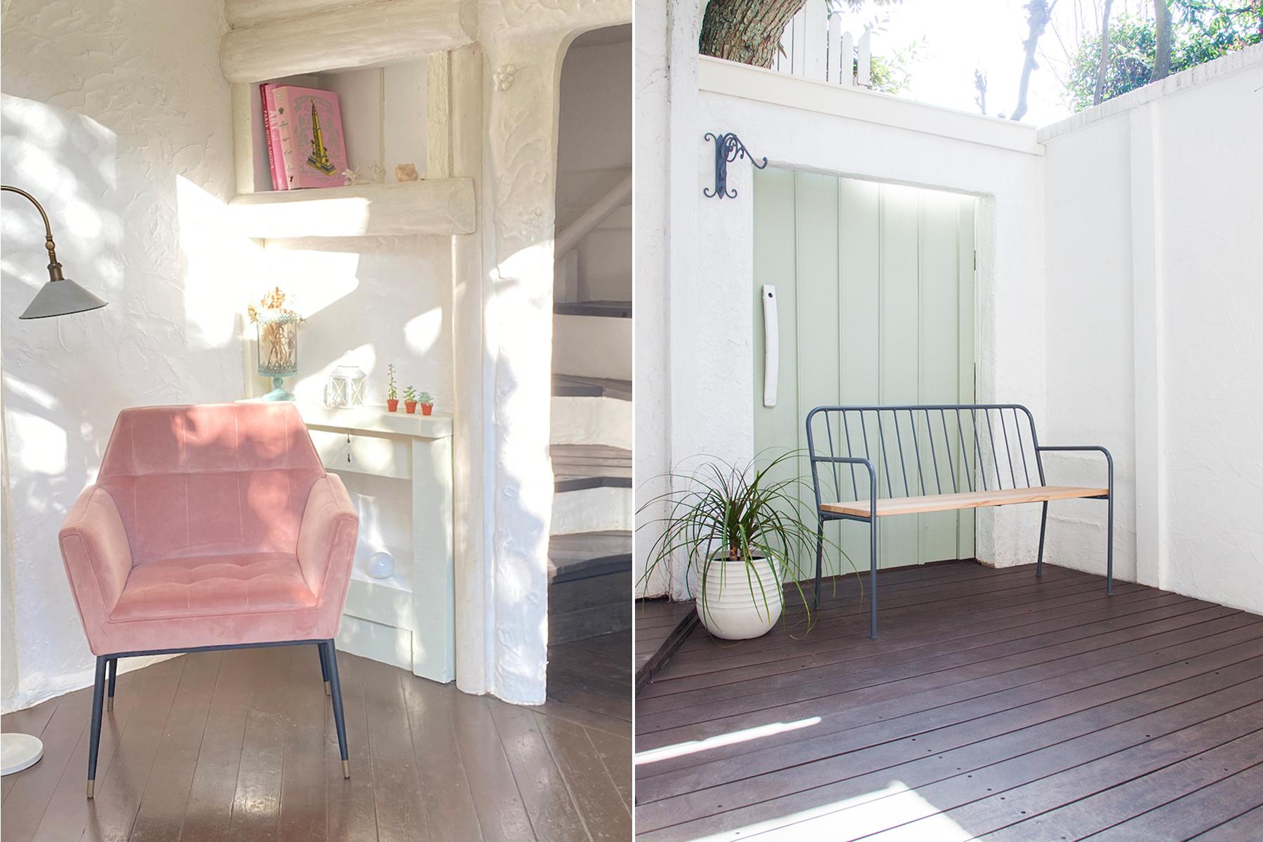 Rapture Studio (ラプチャースタジオ)ピンクの壁・天蓋・長椅子